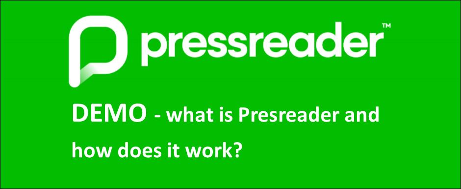 Demofilm på engelska om vad Pressreader är och hur det fungerar.
